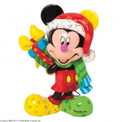 Mickey Mouse with Present - Mini Figurine