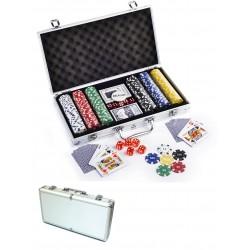 Coffret aluminium 300 jetons poker