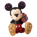 Mickey Mouse with Flowers Mini Figurine