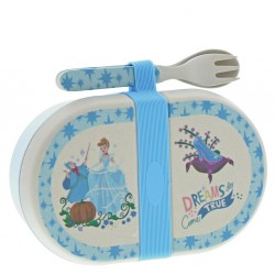 Cinderella Organic Bamboo Snack Box with Cutlery Set