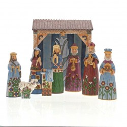 Folklore Nativity 9 Pc Set Folklore by Jim Shore