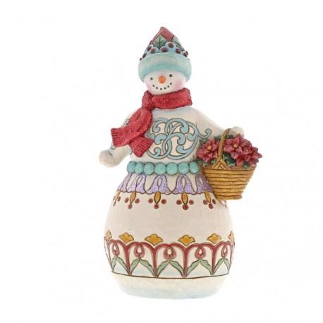Wonderland Snowman with Basket