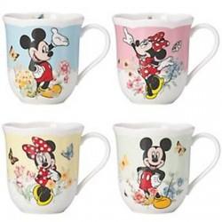Set 4 Lenox Mickey & Minnie in The Meadow Mugs