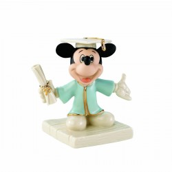 Mickey's Graduation Day Holding Diploma Figurine