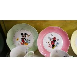 "Set 4 Lenox Mickey & Minnie in The Meadow 8"" Plates"