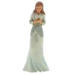 Forever In My Heart (Girl Holding Heart Figurine)