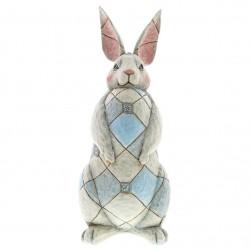 Grey Rabbit Garden Statue