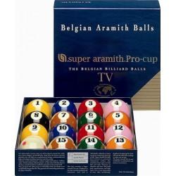 Set 16 billes Super Aramith US TV Pro-cup 57,2mm