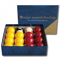 Set 16 billes pool anglais Super Aramith Pro-cup