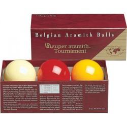 Billes carambole Super Aramith - tournament - 61,5mm