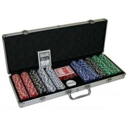 Coffret aluminium 500 jetons poker