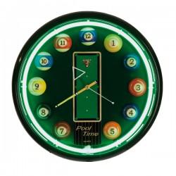 Horloge murale 'Pool' néon vert