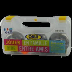 Set 3 boules de pétanque 'Obut détente'